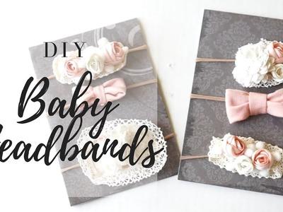 DIY BABY HEADBANDS| easy no sew