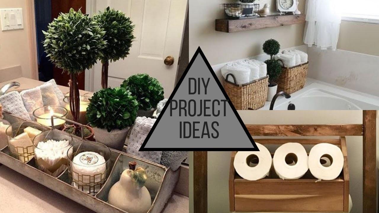 DIY Bathroom Decorating Ideas - Storage Solutions & More