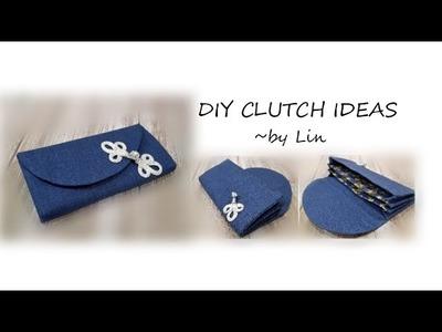 DIY CLUTCH WALLET IDEAS~useful daily sewing #HandyMum