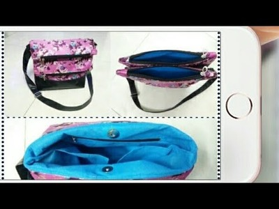 DIY : Designer Double Flip Shoulder Bag Tutorial By Anamika Mishra. .