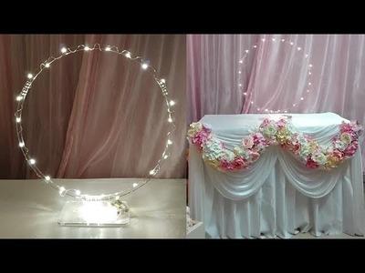 DIY hoop centerpiece. wedding table centerpiece ( tutorial )