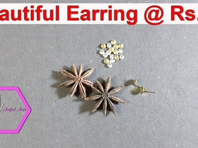 DIY:How to Make Easy|Simple and Beautiful Spicy Earring in 5 minutes at home| artfularts