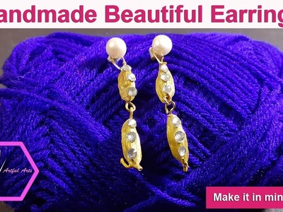 DIY:How to Make Easy|Simple and Beautiful Earring in 5 minutes Using Cardamom|artfularts