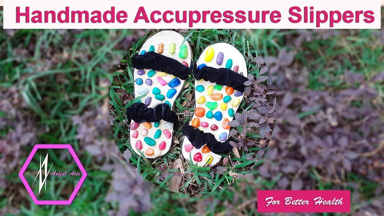 DIY:How to Make Easy|Simple Ecofriendly Accupressure slippers at home|artfularts