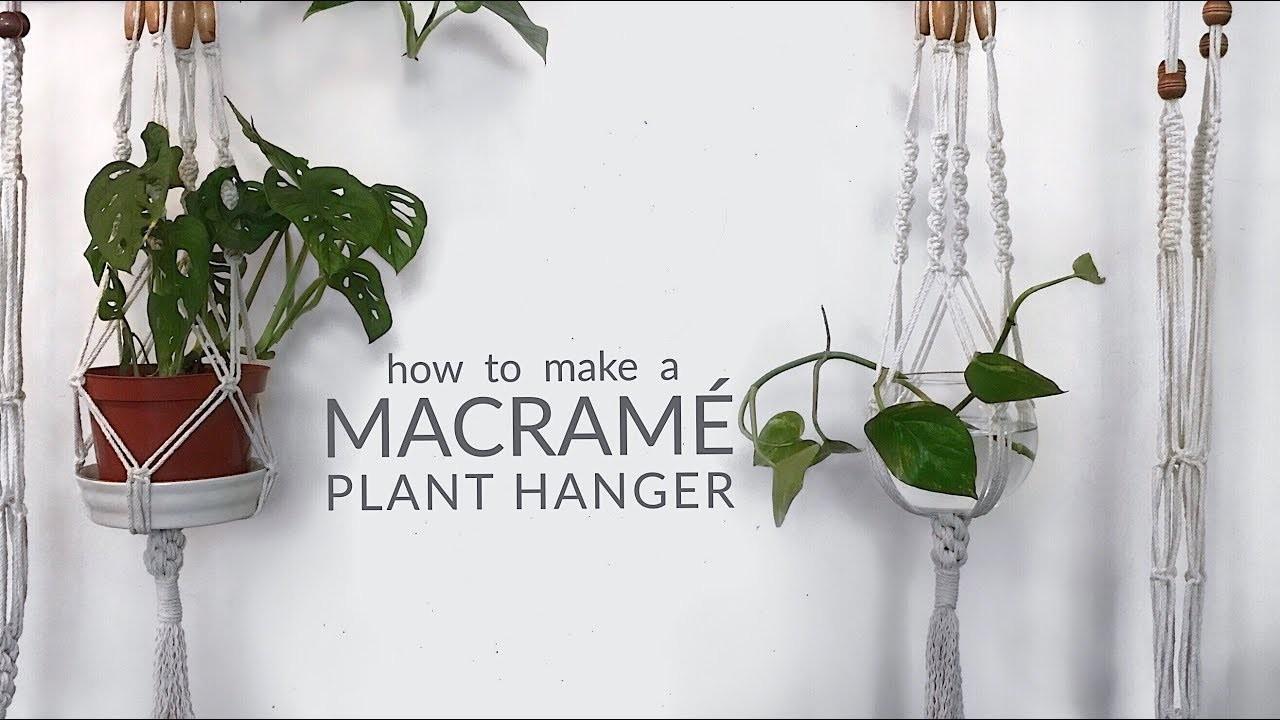 DIY Macrame Plant Hanger | Easy Step by Step Tutorial