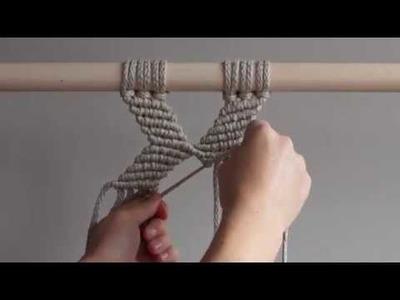 DIY Macrame Tutorial - Geometric Pattern #3