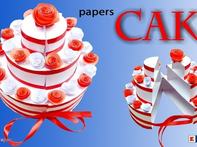 DIY -  Paper Cake Tutorial | How to Make Birthday Cake | Colour Papers