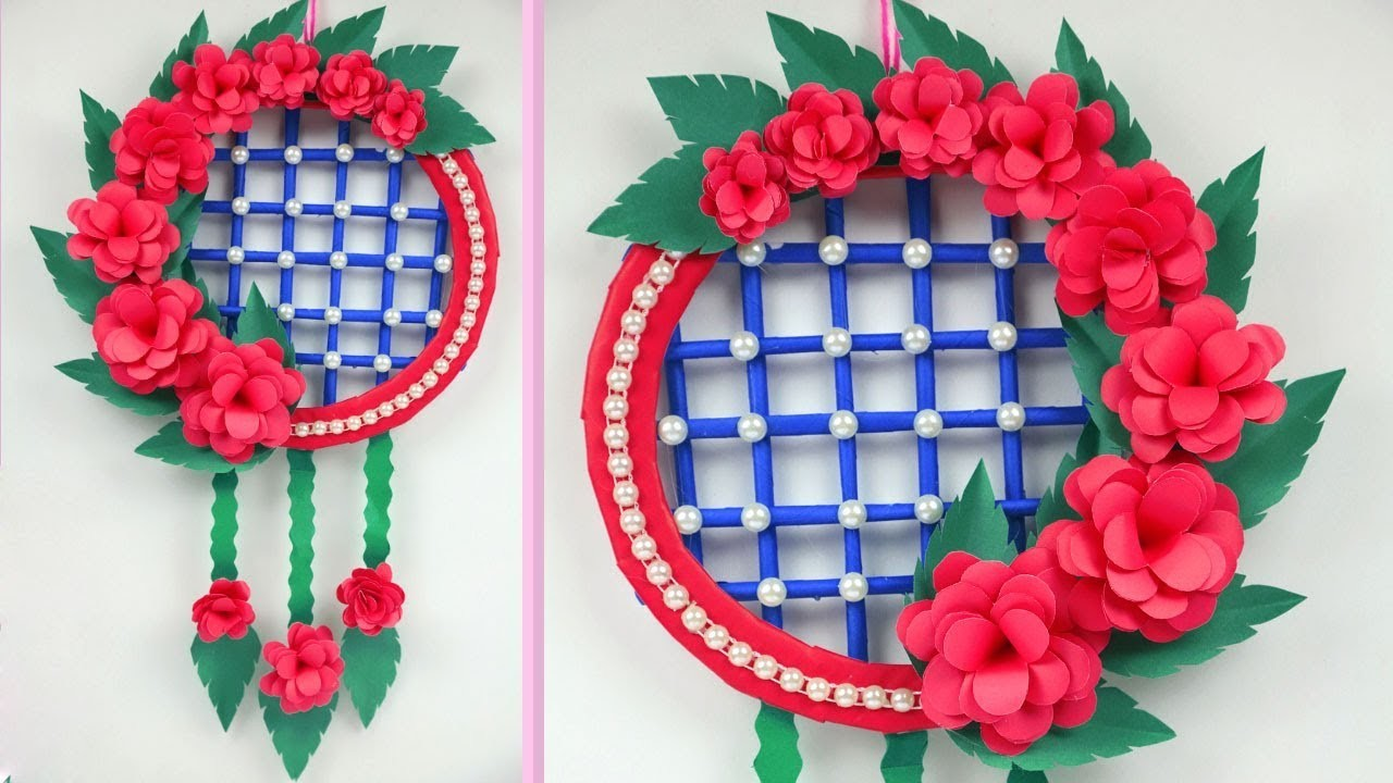 DIY: Paper wall hanging crafts | How to Make Paper Wall Hanging Very Easy And Simple !