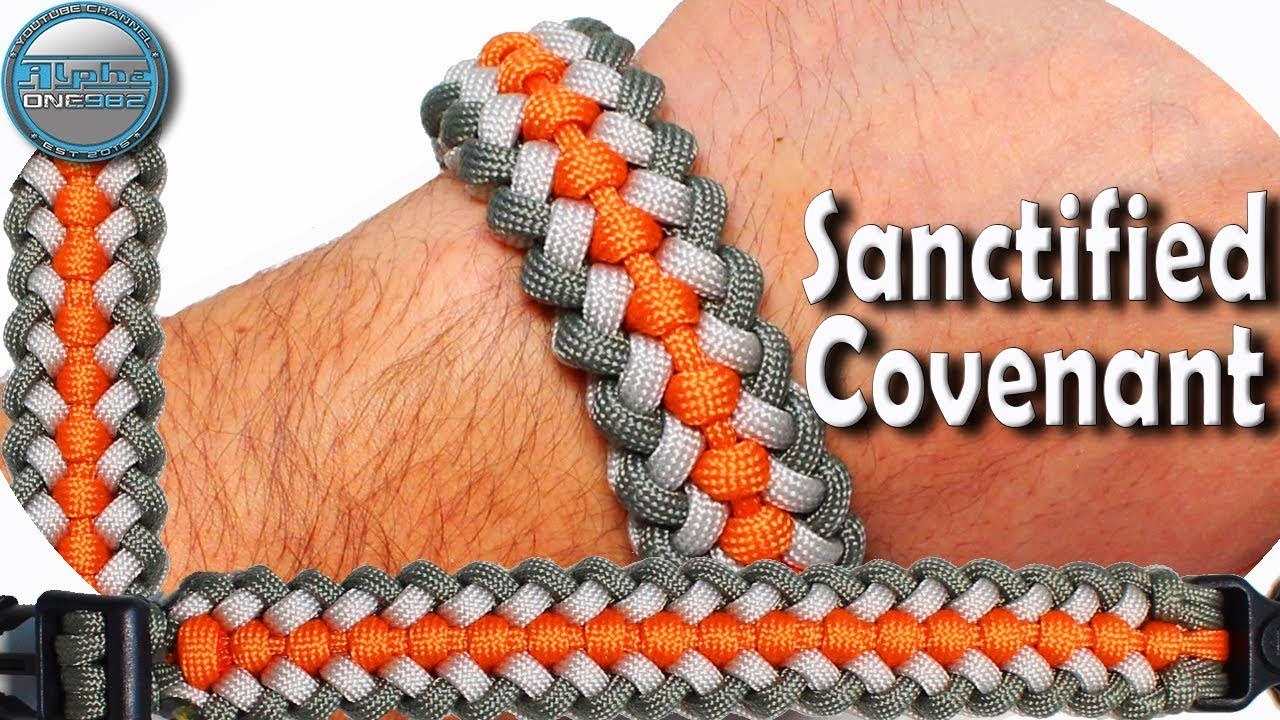 DIY Paracord Bracelet Sanctified Covenant World of Paracord How to make Paracord Bracelet Sanctified