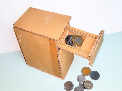 DIY | PIGGY BANK.PERSONAL Coin Saving Bank | Made with Card board |