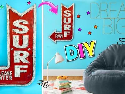 DIY ROOM DECOR IDEAS FOR TEENAGERS   SURF SINGBOARD SUPER COOL!