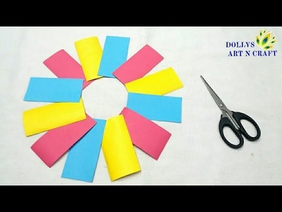 DIY Simple & Easy Paper Flower | Pretty Paper Flower Idea | How to make Flowers with Colour Paper