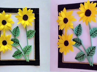 DIY | Sunflower wall Decor | DIY | Room.Home Decoration | DIY | Paper wall Hanging