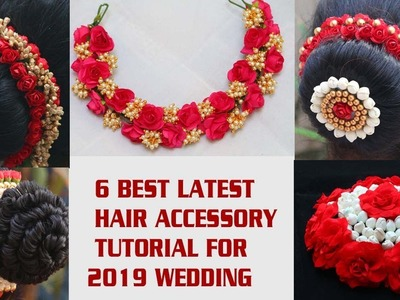 DIY.Tutorial for 6 best Indian wedding hair accessory 2019
