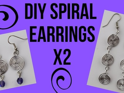 DIY Wire Spiral Earrings Tutorial