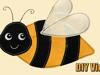 Do it yourself DIY felt bee by Super Simple Skills For kids