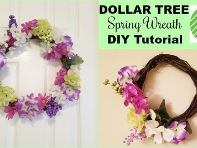 Dollar Tree Spring Wreath DIY l How To Make A Spring Wreath l Dollar Tree DIY l Southern with Charm