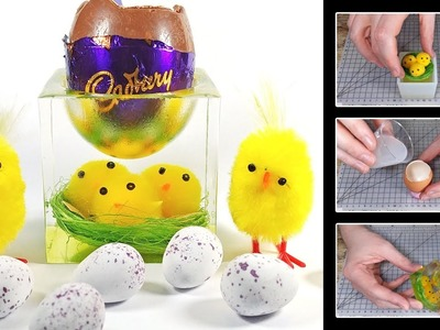 Easter Chicks Egg Cup or Trinket Box from Epoxy Resin | Tutorial | DIY