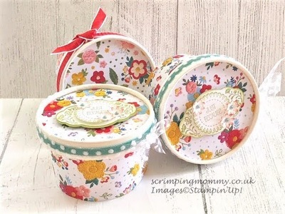 Easy decorated treat pot gifts, craft fair idea.