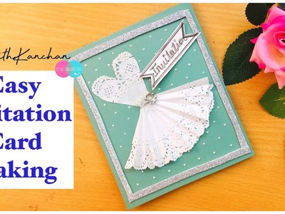 Easy Invitation Card Making.Invitation Card For Birthday.Farewell.Girls.DIY-Birthday Card For Girls