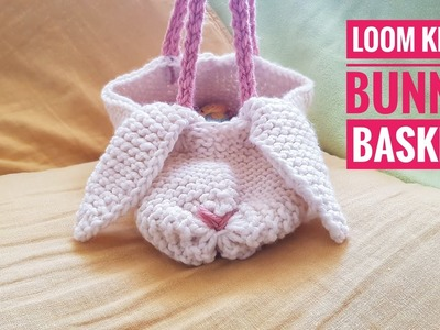 How to Loom Knit a Bunny Basket (DIY Tutorial)