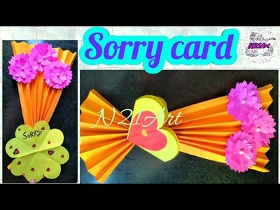How to Make a Beautiful Sorry Card \ Sorry Card Tutorial \ DIY Sorry Card | Greeting Card