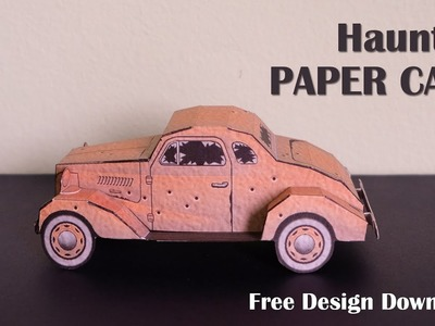 Gift, How to make a Paper Car, DIY Paper Car, Tutorial