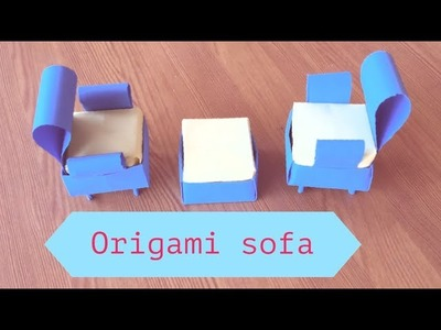 How to make a paper sofa - Diy paper crafts (very Easy) by paper art