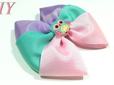 How To Make Hair Bows ???? DIY #231  Grosgrain Ribbon Hair Bow Tutorial