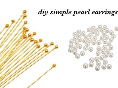 How To Make Simple And Beautiful Pearl Earrings At Home | DIY | Pearls Jewelry Making|Pearl Ball