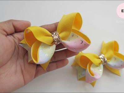 Laço De Fita ???? Ribbon Bow Tutorial #44 ???? DIY by Elysia Handmade