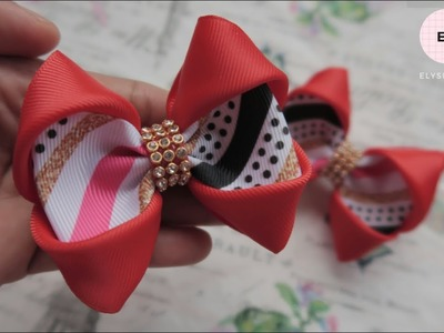 Laço De Fita ???? Ribbon Bow Tutorial #36 ???? DIY by Elysia Handmade