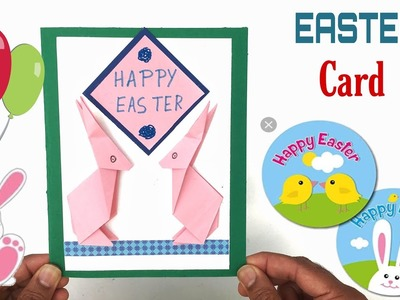 Origami Easter Bunny Rabbit Card - DIY Tutorial by Paper Folds - 984