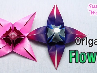 Origami Flower : How to make a Paper Flower (Spring Flower, DIY, Tutorial)