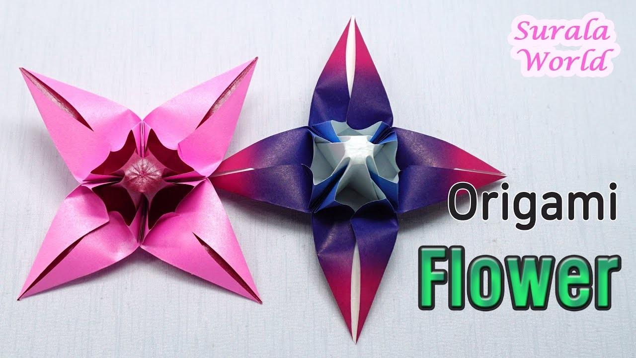 Origami Flower : How to make a Paper Flower (Spring Flower, DIY, Tutorial)