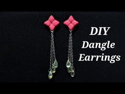 Polymer Clay Tutorials | 5 Minute DIY Jewelry | Quick & Easy To Make Polymer Clay Dangle Earrings