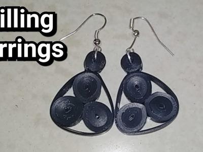 Quilling earrings. diy. handmade earrings