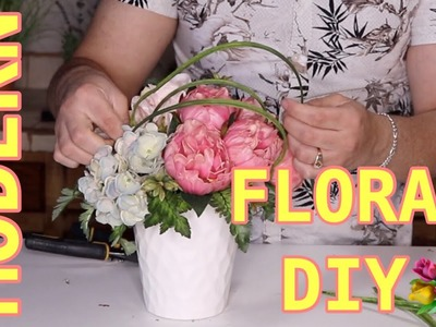 Small Flower Arrangement DIY.  Easy Tutorial For Spring And Summer Floral