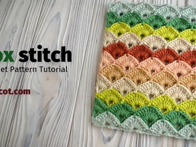 Crochet Box stitch pattern tutorial