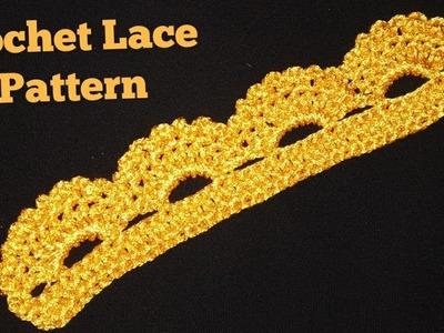 Crochet Dupatta Lace Pattern in hindi,indian crochet patterns