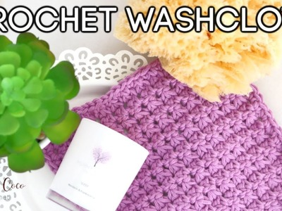 CROCHET: EASY CROCHET WASHCLOTH | Bella Coco Crochet