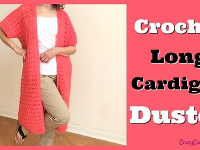 Crochet Long Cardigan Duster