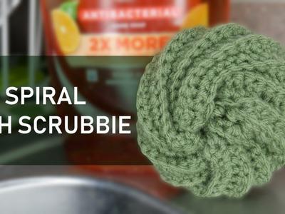 Crochet Spiral Dish Scrubbie Tutorial