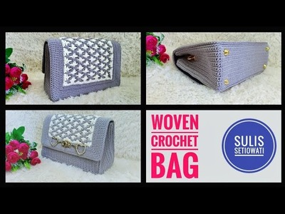 Crochet || Tutorial Tas Rajut Woven || English subtitles