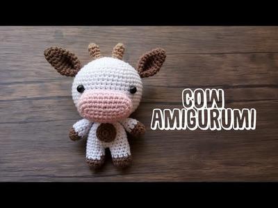 CUTE AMIGURUMI| COW | CROCHET TUTORIAL