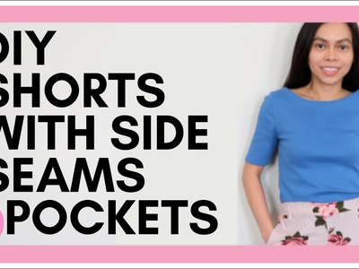 DIY Shorts with Pockets, Pajama Shorts,  Sewing Projects for Beginners, Sew Aldo