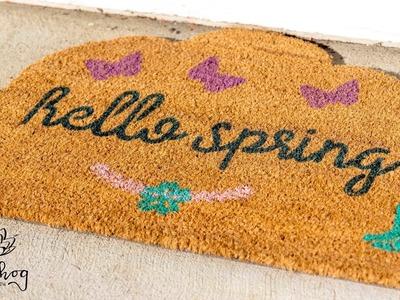 Easy Last Minute DIY Personalized Doormat - Welcome Mat Tutorial