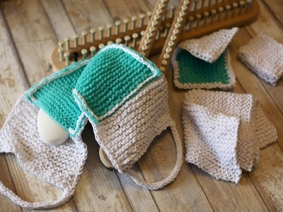 EASY Loom Knit Squishy Kitchen and Bath Knitting Patterns Tutorial