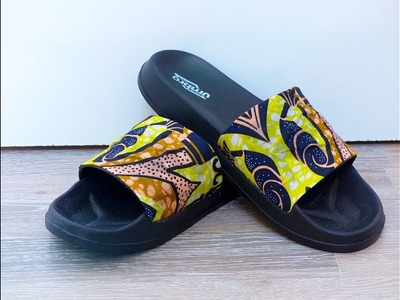 HOW I COVERED THIS SLIPPERS WITH ANKARA FABRIC