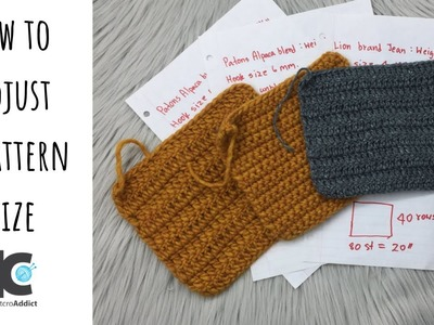 How to adjust a crochet pattern size